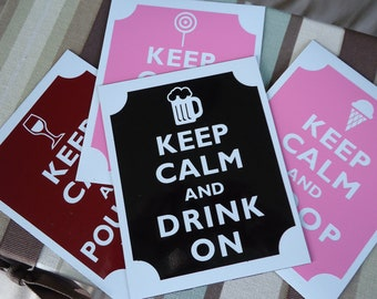Custom Keep calm food and beverage fridge magnets