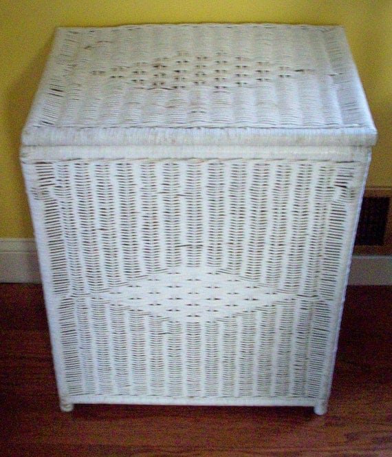 White wicker hamper large diamond weave laundry by White wicker washing basket
