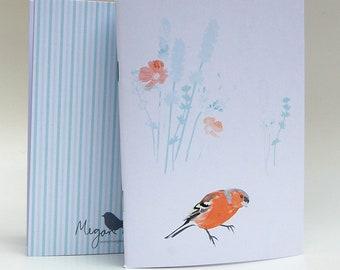 Chaffinch A6 decorative notebook