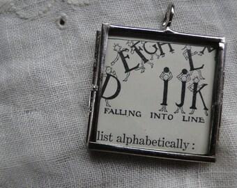 Pendant Woman Graduate Teacher Necklace Alphabet