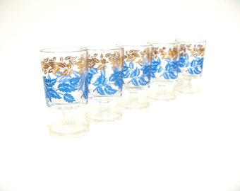 Vintage Glassware, Aperitif or Shot Glass Set, Bar Gear