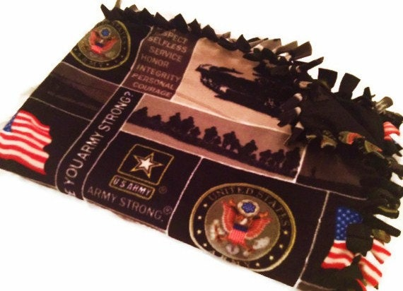 United States Army Fleece Tie Blanket US by BlanketsUnlimited