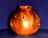 Hand Turned Wood Vase - 01 Cedar Stump Wood