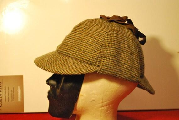Tweed Deerstalker Hat, Sherlock Holmes Hat