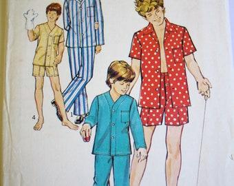 Vintage 1970's Boy's Pajamas Sewing Pattern Size 14/16 Simplicity 6427