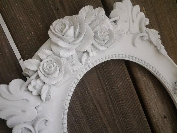 Frame Vintage Frame Shabby Chic Farmhouse Style Shabby Roses White Frame Ornate