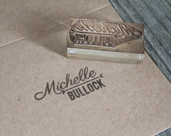 Custom Rubber Stamp: 1 x 2 inches