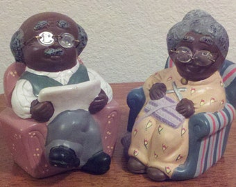 Cute Old Couple Coin Banks