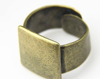 2 pcs of solid brass ring base top high quality -4042-antique bronze