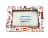 Dog Lover's Picture Frame - Decoupage Frame - Holds a 4x6 Picture