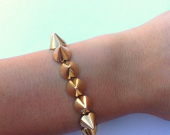 Gold Spike Studded Bracelet