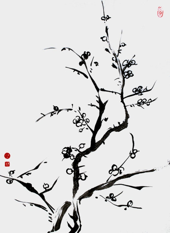 Zen Line Drawing : Chinese calligraphy zen painting ink meditative