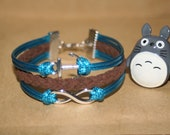 Bracelet infinity anchor bracelet handmade  handknitted chain gift for girlfriend/Best friend