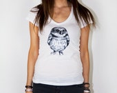 A Charming Owl (Owl V Neck) White