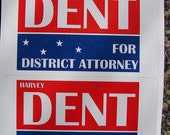 Harvey Dent for District Attorney Sticker Set Nurse Joker Costume Dark Knight Movie Replica