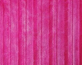 Minky Groved Cuddle Fabric, Fushia- 1 yd