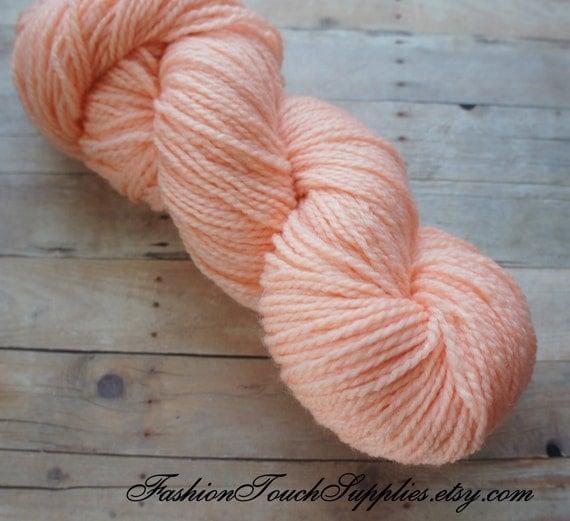 Hand Dyed Yarn in Peach 164 yrds 009