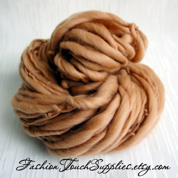 Knitting Supplies Canada : Sale bulky handspun yarn almond twist thick and thin