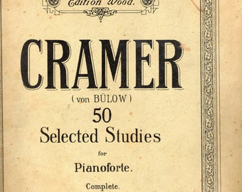 Cramer 50 Selected Studies for Pianoforte Complete