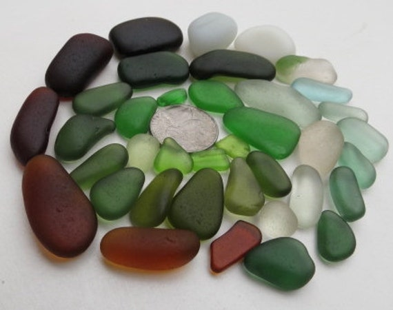 Beach Sea Glass in Bulk For Jewelry Arts and Crafts Mosaics