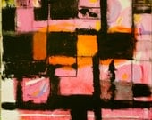 Reserved - Its Becoming Clear To Me - Original Abstract Acryllic painting on canvas