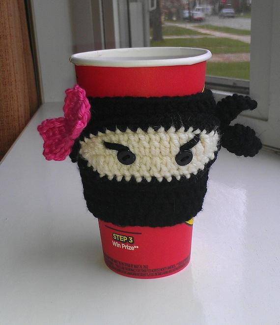 PDF CROCHET PATTERN - Ninja cup cozy