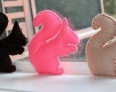 Felt squirrel set - silhouette toys
