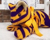 LSU Stuffed Fleece Tiger, Purple and Gold