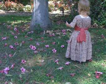 Historic 18th Century Toddler to Child Dress (Reproduction) Georgian Colonial
