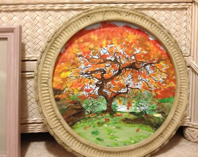 """Colorful Tree of Life - Done in the Round - 19"""" Diameter Round"""