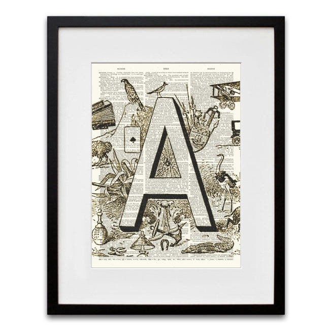 Whiskerprints Vintage Dictionary Prints on Etsy