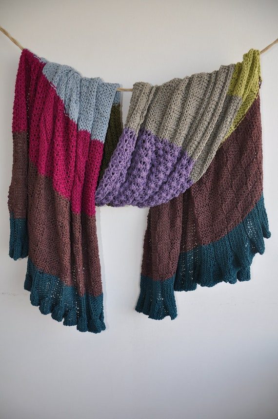 05-Colourful, stripped afghan