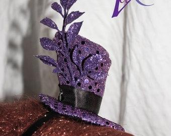 Purple Top Hat Fascinator