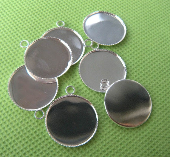 silver pendant tray wholesale 20mm bezel setting blanks