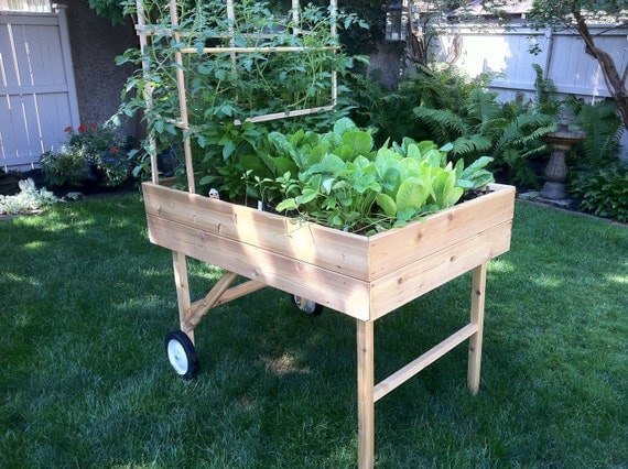 items similar to mobile garden portable raised bed planter on etsy