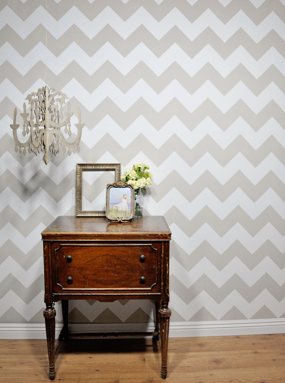Chevron wall stencil reusable for Chevron template for walls