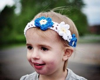 3 Flowers Headband