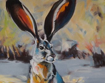Juicy Jackrabbit archival giclee print with acid free matting
