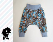 PUDGE PANTS / perfect for Cloth Diapers - Cloth Diaper / SIZE: 6 months - 1 year / Deco-Tiki