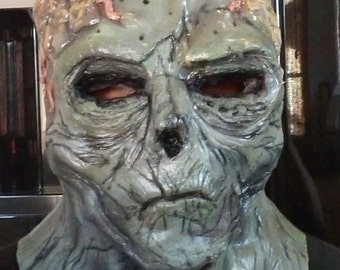 Alien Zombie- Full Head Latex Halloween Mask