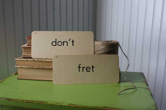 vintage flash cards - don't fret
