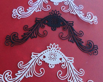 Flourish Die Cut Set of 8 Victorian Romance Flourish