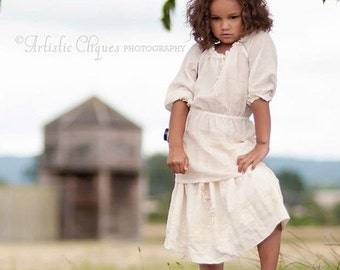 Summer girls blouse B15 ivory beige cotton top beach blouse special occasion/