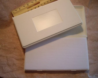 Three (3) un-inked blank stamp pads   no ink supplied