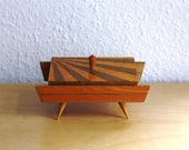 1930s-1950s Vintage Wooden Box Jewelry Box Japanese Sun Box
