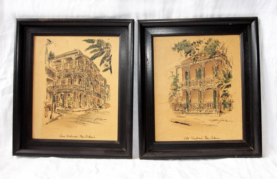 Pair Of Framed John Haymson Prints Of New Orleans French