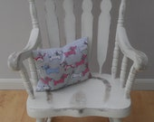 Shabby Chic, Distressed Solid Walnut Wood Rocking Chair