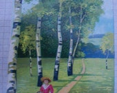 Postcard German To My Beloved Unposted Series 500 Glossy Birch Trees Scenery Free Shipping