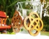 "Handmade Engraved Teak Wood Earring from Thailand Tradition style ""ERT012"""