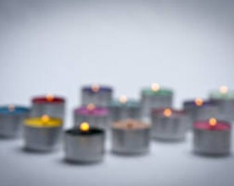 Custom Soy Wax Tealights - Box of 6 scented 9 hour tealight candles